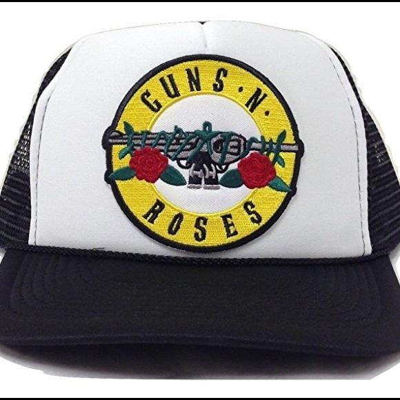 100a232b678 Guns N Roses Trucker Baseball Snapback BAND SWAG
